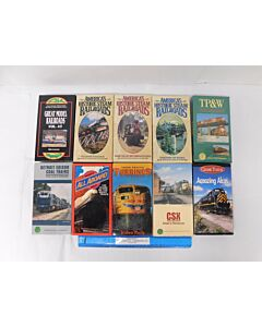 Lot of 10 USED Railroad VHS in their original sleeves