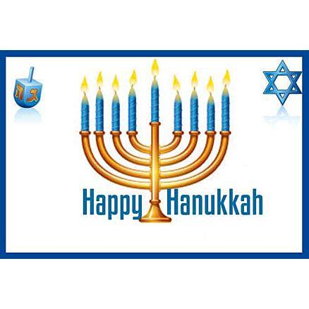 Happy Hanukkah Gift Card-Customize